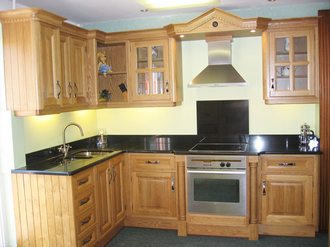 Framed white oak kitchen by tullyvin kitchens cavan